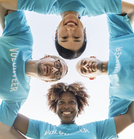 Team of business volunteers